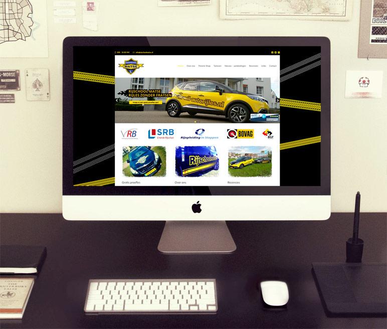 Website laten bouwen: Rijschool Matse