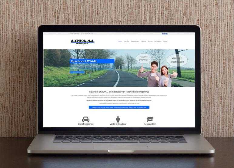 Nieuwe website Rijschool Loyaal