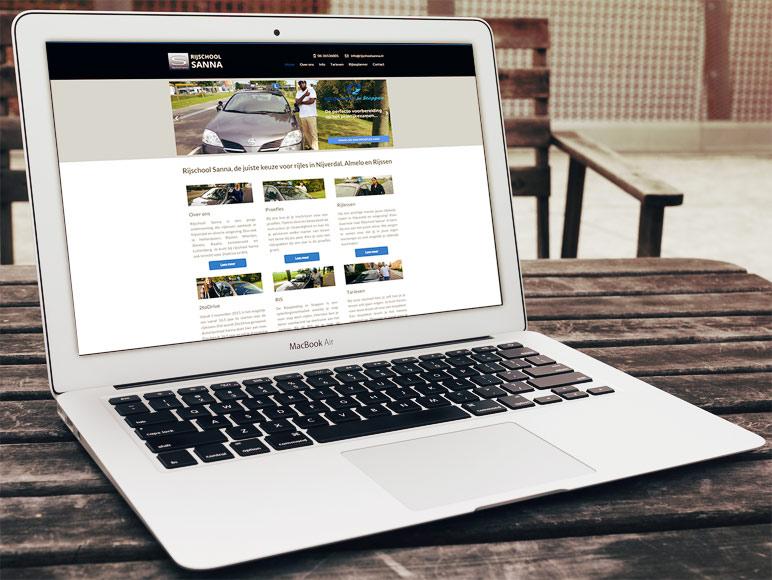Nieuwe website laten maken:  Qualitech Group: Rijschool Sanna